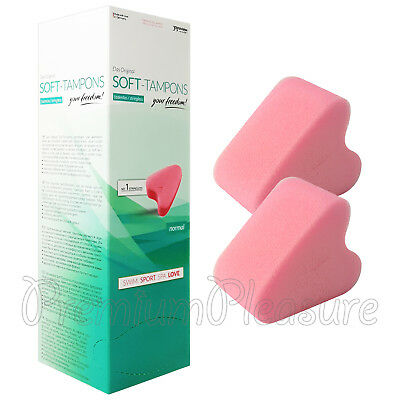 10 x Joy Division Soft Tampons Normal size Stringless Pink sponge Swim Sex BOX