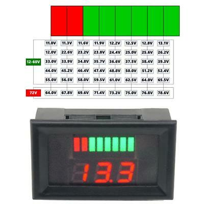 12-60V LED Contrôleur de Voltmètre Digital Indicateur Batterie d'Acide de Plomb