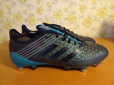 Mens Adidas Malice Control SG Blue Rugby Boots - UK 9