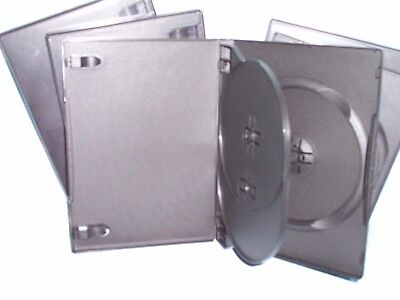 "5/8"" 14 mm Slim Triple 3-DVD Black Case Movie Box SINGLES BUY 1 for 3 discs NEW"