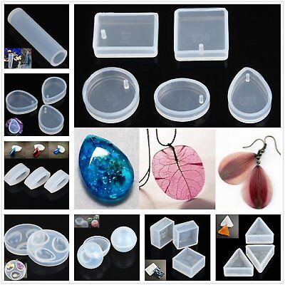 Jewelry Pendant Making Mold Silicone Clear 45 Style Resin Craft Mould & Supplies