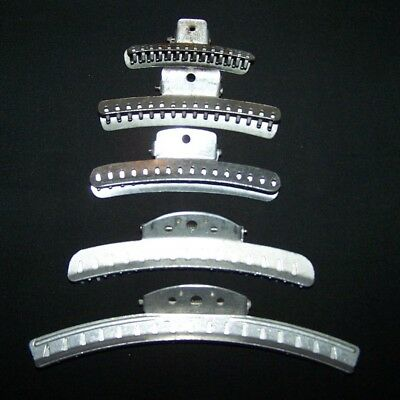 1940-50's VINTAGE ALUMINUM WAVE HAIR CLIPS-STYLE-RETRO-BEAUTY PRODUCT-USA-GOODY+