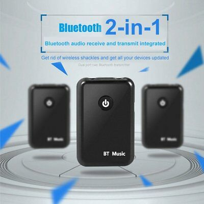 2 in 1 Bluetooth Receiver + Transmitter Stereo For Audio Adapter TV Speaker New