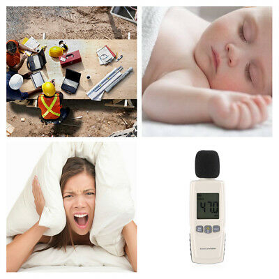 30~130dBA LCD Home Office Sound Level Noise Decibel Meter Tester Measuring Tools