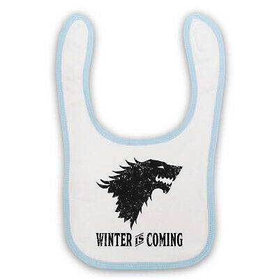 Game Of Thrones Stark Wolf Head Sigil Winter Is Coming Baby Bib Cute Baby Gift