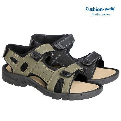 LADIES Cushion Walk VELCRO SANDALS WOMENS CASUAL WALKING SHOES HIKING MULES SIZE