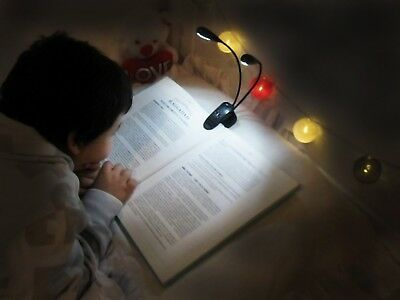 iLight Rechargeable Eye-Care Book Light Clip On Bed Reading Light Music Stand