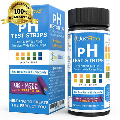 pH Test Strips for Testing Alkaline and Acid Levels in the Body. Track &...