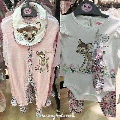 BNWT Primark Baby Girl's DISNEY Bambi/Thumper Clothing Grow Outfit 2 TO CHOOSE