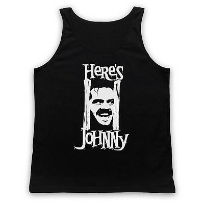 Here's Johnny Unofficial The Shining Kubrick Film Jack Adults Vest Tank Top