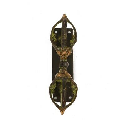 Buddhism Dorje Brass Door Handle Antique Finish Tibetan Vintage Style Door Knob
