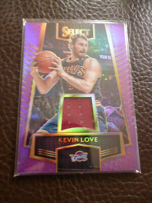 2016-17 Select Swatches Prizms Purple #19 Kevin Love #ed 21/99 GU cavaliers