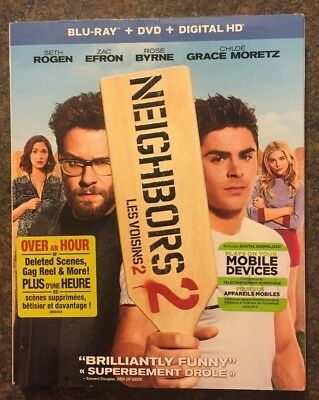 ** Neighbors 2, Blu-ray + DVD, brand new, factory sealed! Seth Rogen, Zac Efron