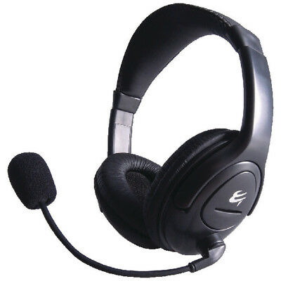 Computer Gear HP 512 Multimedia Stereo Headset Boom Microphone Headsets
