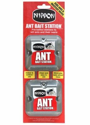 Nippon Ant Bait Station Twin Pack-Killer Kills Ants Destroys Nests Pre-Baited