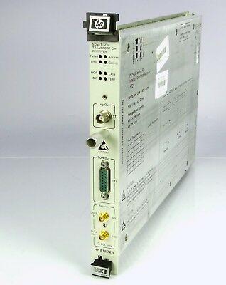 HP E1672A SONET SDH Transport OH Receiver 75000 Series 90
