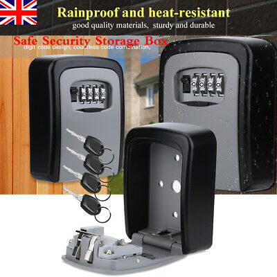 4 Digit Password Key Box Wall Mount Safe  Storage Outside Safety Lock Case Home