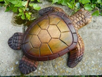 Wooden Turtle Carving - Large Hand Carved Turtle