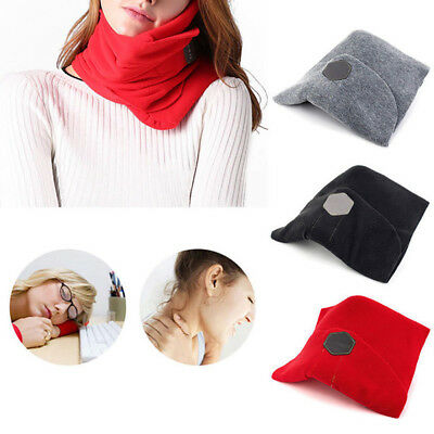GENUINE TRTL Pillow SUPER Soft Neck Support for Flight and Travel Black Grey Red