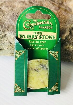 Irish Connemara Marble Worry Stone-Rub This Stone And Let Your Worries Disappear