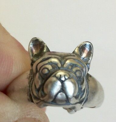 French Bulldog Amazing Silver Ring