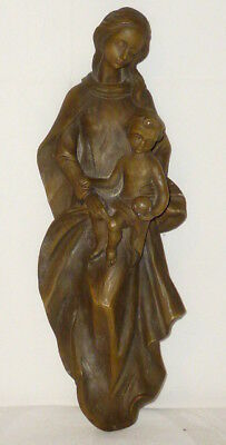 antique Holy Statue Holy Madonna Dimensions Figure 40cm Wood? Poly-Resin? RARE
