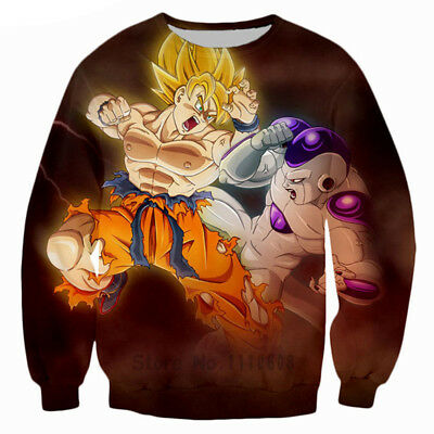 Women/Men Dragon Ball Goku Frieza Fighting 3D Print Casual Sweatshirt Hoodie S56