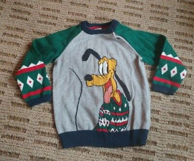 Worn Once Disney H & M Pluto Holiday Christmas Sweater 12 - 18 Months
