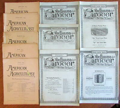 New England Grocer magazine 1901 American Agriculturist 1894 lot x 10 nice