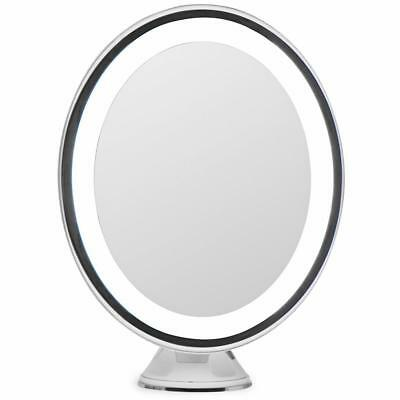 LightLUXE 5X Lighted Magnifying Makeup Mirror w/ Bright LED Lights, 360...