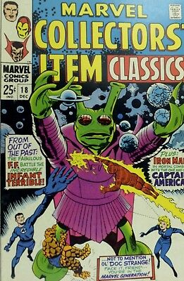 1968 Marvel Collectors Item Classic No. 18 Comic Book A6