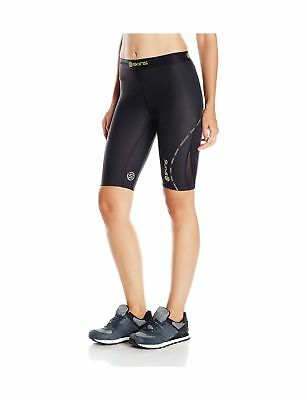 Skins Womens DNAmic Women's Compression 1/2 Tights/Shorts Black Small
