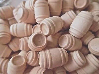 Miniature Wood Barrel for Doll's House or Toy Train Cargo X 10, 20 or 40