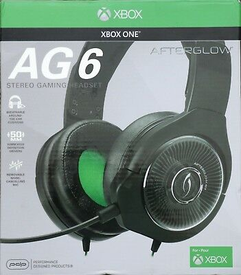 New Afterglow - AG 6 Wired Stereo Gaming Headset for Xbox One – Black f23f8c33df1ec