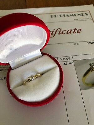 18ct Yellow & White Gold Diamond Ring With Valuation Certificate