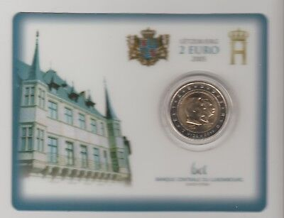 Rare Coincard Officiel 2 Euro Luxembourg 2005 Bu Neuf Unc