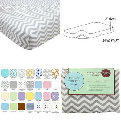 Gray Secure Fit MYTODDLER New Tl Care 100/% Cotton Jersey Knit Mini Crib Sheet