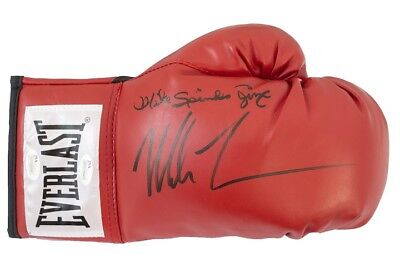 Mike Tyson & Michael Spinks Dual Signed Everlast Boxing Glove Jsa