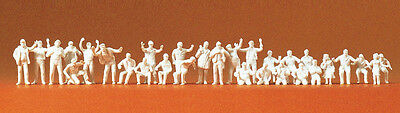 PREISER HO scale ~ 'TRUCK DRIVERS' ~ UNPAINTED FIGURES for your HO LAYOUT!