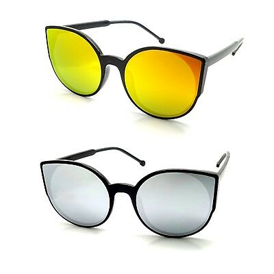 Lunettes Soleil Cat Eyes Oeil de Chat So Real Papillon Verres MIROIR Flashy d1b738ecfc22