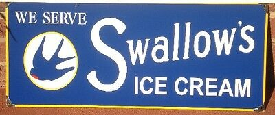 Swallows Ice Cream Enamel Sign (Made To Order) #31