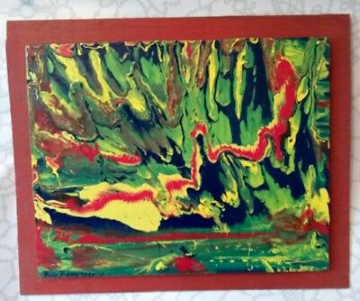 BIG BANG THEORY. Archival abstract. Outsider Folk Art W. D. HARDEN
