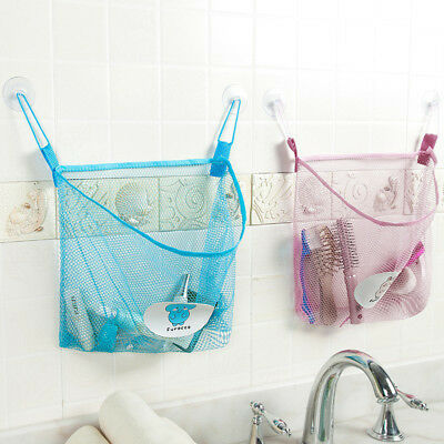 1xHanging Storage Bag Mesh Net Kids Baby Toy Bedroom Bathroom Organizer Closet