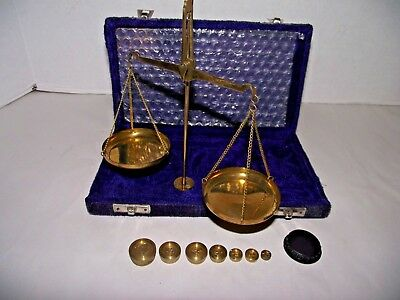 Vintage Brass Jewelry Gram Scale made in India