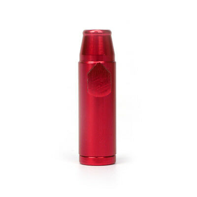 Good Quality Snuff Bullet Sniff Snorter Metal Sniffing Rocket Red