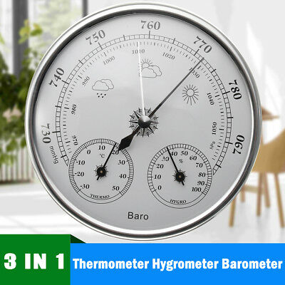 UK Weather Station Barometer Thermometer Hygrometer Wall Hanging Indoor Outdoor