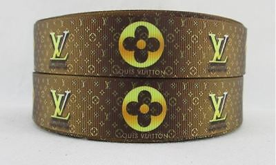 Grosgrain Ribbon Fashion Brand #1 25mm (1m, 2m or 5m)