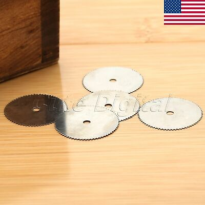 US 20PCS 22mm Stainless Steel Saw Wheel Disc Wood Cutting Blade Rotary Tools