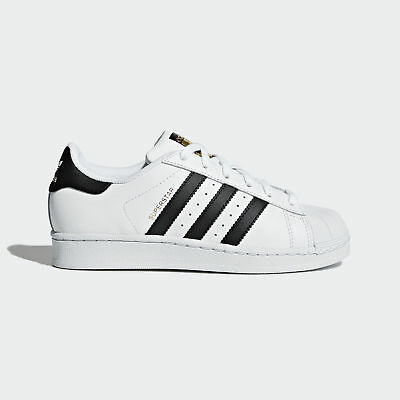 adidas Originals Kids SUPERSTAR J Low Top Sneaker (Big Kid),C77154,White/Black