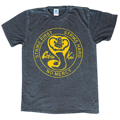 Karate Kid Cobra Kai T-Shirt Acid-Wash Great Quality Assorted Colors Sizes S-3Xl